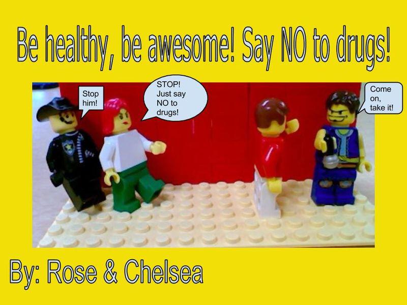 Drug Free Lego Poster