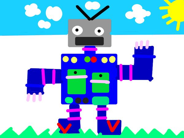 robot drawings in 1st grade the digital scoop