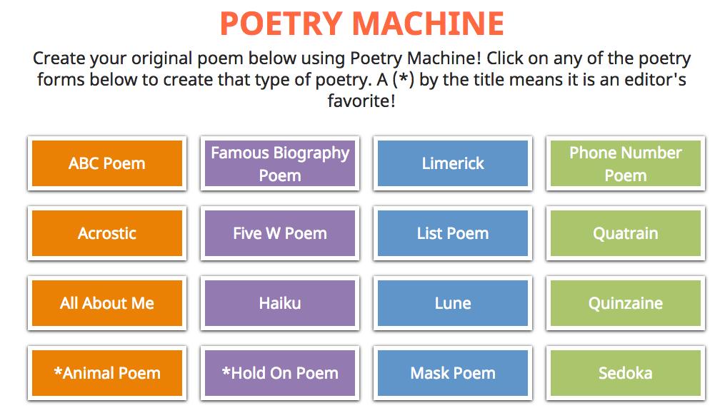 Poetry Machine Templates