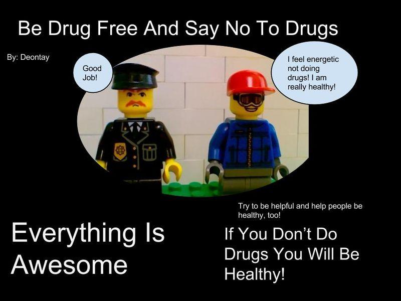 Drug Free Lego Poster2